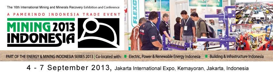 2013第十六届(印度尼西亚)国际矿业大会及展览会