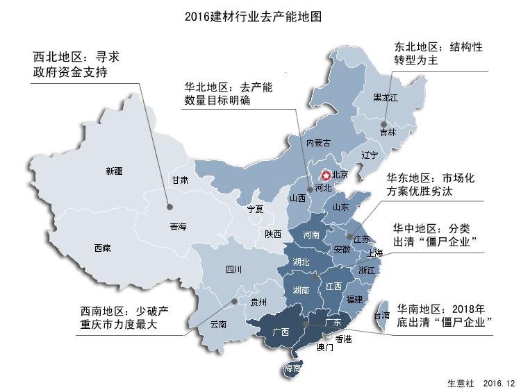 生意社:2016建材行业去产能地图之西北地区